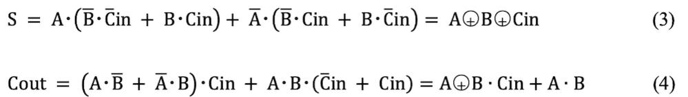 課題回路の半加算器を用いることで全加算器を実現することができる。 式(3),(4)を利用して半加算器を全加算器で表せ。 上の問題をご教授ください。