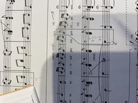 ③の音程を答えなさい、とのことなんですが、これどこを指してると思いますか? 楽譜切れてしまってますが、③が指す楽譜は伴奏の部分で、ト音記号とヘ音記号です。