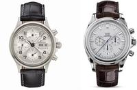 どちらの時計がオンオフ共に使えるか? アラサー独身会社員です。 海外旅行にもいけないので、独身のうちにしか買えないものを、と思い腕時計を検討しています。現在黒文字盤のタグホイヤー3針を使っていますので、2本で使い分けできたら、と思っています。  ・スーツでも私服でも、どの季節でも似合うクロノグラフ ・生意気に見えない ・白系文字盤 ・30万円以内 が理想条件で探していました。 その結果、すべ...