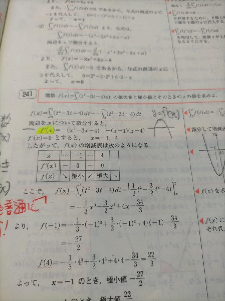回答1行目の右辺の積分区間をなぜ入れ替えてから両辺を微分したか、分かりません。