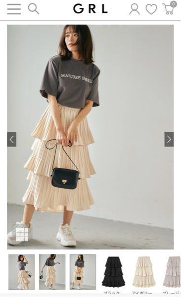 GRLのこのスカートの黒を買おうと思っているのですが、トップスはどのようなものを合わせるといいですか?