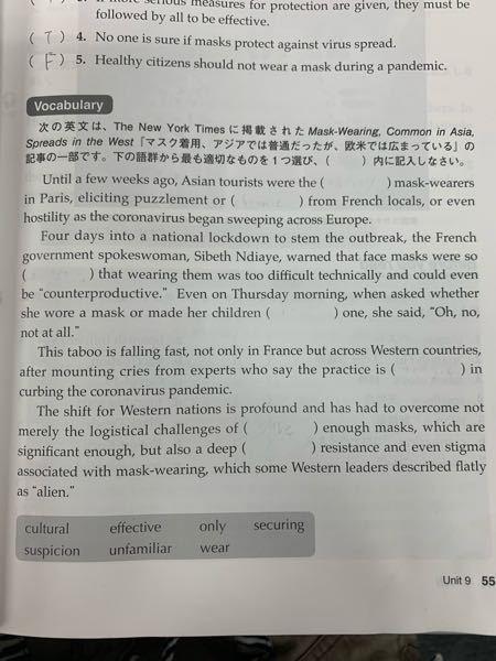 英語が得意な方に質問です。語群から括弧を埋めてほしいです。