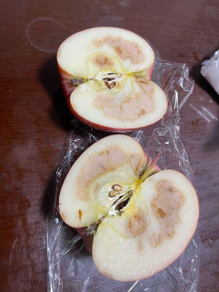 リンゴを切ったらこうなっていました。 現物とレシートをスーパーに持っていけば交換してもらえたりしますか? クレーム客と思われますか? よろしくお願いします。