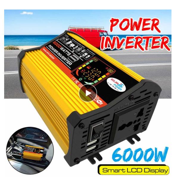電気関連の質問です。 6000Wのパワーインバーター(中国製)なんですが、800Wの家電をつないだらインバーターから煙が出て壊れました。 インバーターのスペック↓ 入力電圧:DC10.5V〜1...