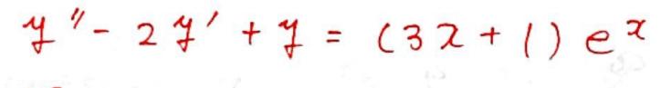 特殊解を求めます。 予測した式はどうなりますか?