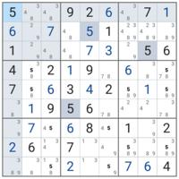 ナンプレ 数独 解き方を教えてください。 次はどこが埋まりますか?