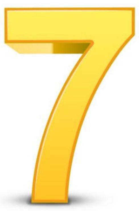 7と言う数字は好きですか? 野球、メジャーリーグで7回に逆転劇が起こりやすかったことに由来してるそうですが、ラッキーセブン。