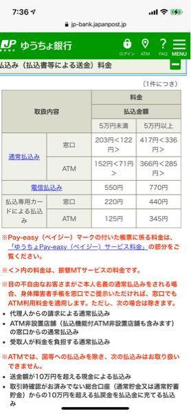 ゆうちょから地方銀行50000円以上の振り込みするときって手数料440円もかかりますか? UFJから地方銀行のが安いですか? ゆうちょもUFJもそれぞれキャッシュカードがあるのですが、ゆうちょに入ってるお金を使うのでUFJのが安い場合、ゆうちょから引き出してからATMに行かないといけません。 UFJには330円とかサイトに書いてあるんですが、ゆうちょは366?これであってますか? 前に質問した時人によって回答が違っていたので困りました。