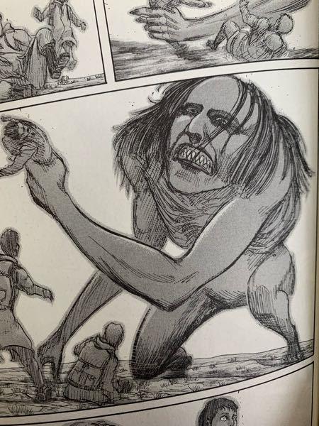 進撃の巨人を読み直してるのですが、10巻でライナーが廃城で巨人がドアを開けたらいた時の描写なのですが、この巨人はユミルですよね? この後ユミルが巨人化するからネタバレするのを防ぐためですか? 回答お願いします。