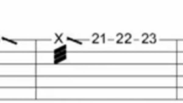 ギターのtabなんですけどこの三本線の部分はどうやって弾きますか?