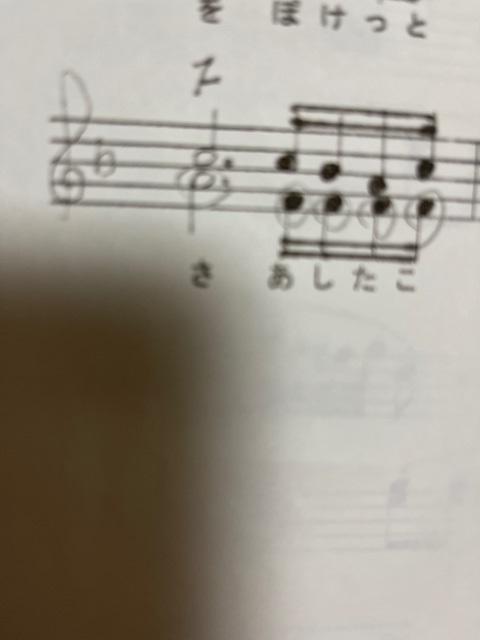 この楽譜は矛盾がありませんか?