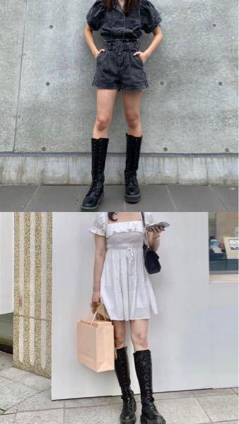 この時期にブーツってどう思いますか? 最近主に韓国の方などがこのような感じで、半袖とロングブーツを合わせているのをよく見て可愛いな、と思い私も来たいのですが変でしょうか?(T . T) 母に夏前...