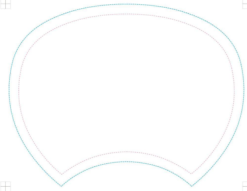 Photoshopでピンクの線を均等な幅で内側に線を増やすことはできますか? *illustratorは使えません・・・