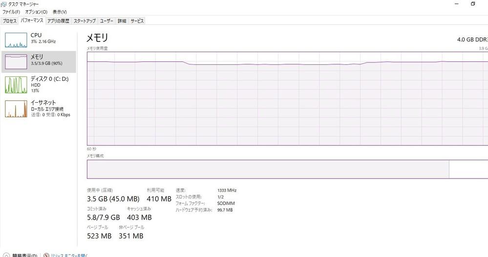 教えてください。 自分のノートPCの今の状態が添付画像なんですが、立ち上がりは遅いとかいろいろ遅いです。HDDの容量増やせば? と聞いた事あるんですが、自分のも簡単に出来るんでしょうか? PCバラス等の技量はありません。言葉だけですが外ツケHDDがどうたらこうたらきいたことあります。 NECのLS350/Hってのを今使ってます。