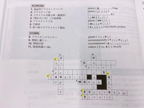 英語の単語のクロスワードです 途中で文字が合わないことに気がつきました。助けてください ♀️