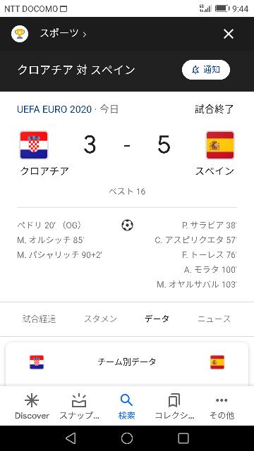 スペイン vs クロアチア 試合の感想を教えてください 2020EURO