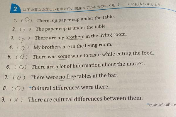 英語についての質問です。 これあってますか? There is構文の練習で、特定する語句(theや固有名詞)がthere isにかかっていたらこの構文は使えないけど特定しない語句(aやsomeなど)では構文は使えると習いました オンライン授業なのですが先生が1ページを3分で説明して「残りは同じ感じで解けるから」と言って全部宿題になっているので、間違えてる箇所に少し説明を加えていただけると助かります…