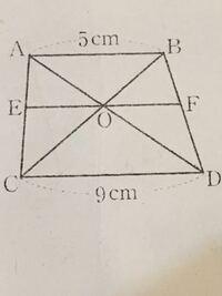 EFを求める問題です。わかる方解説をお願いします! ちなみにAB,CD,EFは平行です。