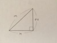 三平方の定理でわからないところがあります。この問題はxの長さを求めよと言う問題です。解き方も教えて欲しいです。