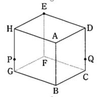 公務員試験 判断推理問題です 正六面体の頂点Eを3点P,Qを通る平面で切断したときの形状として正しいのはどれか。ただしPは辺GH上にあって頂点G寄りの点、Qは辺CD上にあって頂点C寄りの点とする。 1.鈍角三角形 2.鋭角三角形 3.二等辺三角形 4.平行四辺形 5.五角形 6.六角形 7.七角形 8.八角形  解説と答えをお願いします(TT)