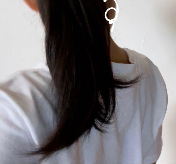 朝、どんなに寝癖をとっても生活しているうちにこのようにぴょんぴょんしてきます。 お風呂上がりはしっかり髪の毛も乾かして、髪の毛には人一倍気を配っているつもりです、、 毛先の量を減らしたら ストン としたポ ニーテールになりますか?