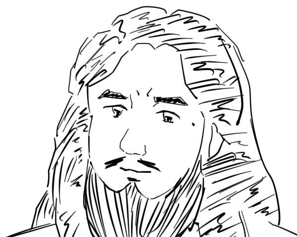 麻原彰晃描きました。似てますか?