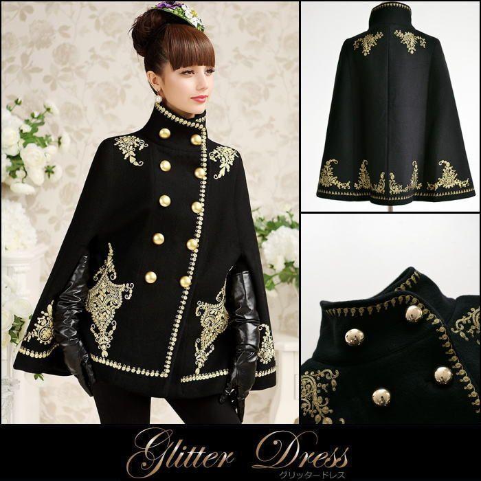 上着、コートなど羽織るもので画像のような黒に金の柄が入っている服を探しているのですがなかなか見つからず、こんな感じの服が売っているオンラインショップはありますか?