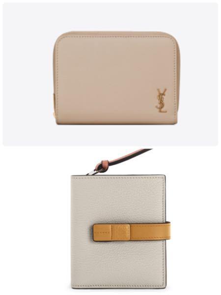 サンローランかロエベの財布 両方とも好みのデザインなので どちらを買うか迷っています。 皆さんならどちらの財布がいいと思いますか? 20代後半です。 YSL LOEWE