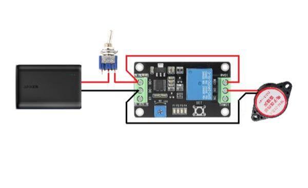 私は電子工作ど素人です。こちらの回路に安全を考慮してヒューズを取り付けようと考えています。電源ACアダプタ5V1Aのもの使用する予定です。あとタイマー部と並列にLEDを付ける予定です。この場合、どこにヒューズ を取り付けたら良いでしょうか?また、ヒューズ以外にも対策方法はありますか?(ブレイカー付きコンセント等)おすすめを教えてください。 あと、この回路の場合、電源ACアダプタ5V1Aは適切でしょうか?