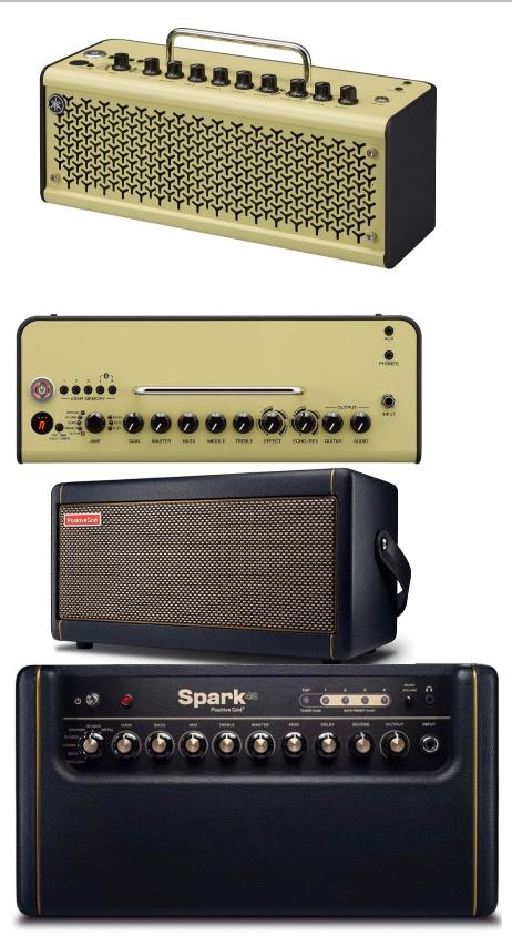 エレキギターアンプ2台目です。positive grid sparkか YAMAHAのthr10iiならどちらをお勧めしますか? 今使っているのはMarshall mg10cdです。買い換えようと思った理由はシールドをさしていない時もスピーカーからピーと耳鳴りのような音が鳴りヘッドホンを通しても聞こえます。あと少しでも高級めなアンプを使って音作りを楽しんだりモチベーションにしたいと思い購入したいと思いました。