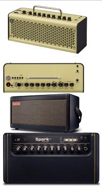 エレキギターアンプ2台目です。positive grid sparkか YAMAHAのthr10iiならどちらをお勧めしますか? 今使っているのはMarshall mg10cdです。買い換えようと思った理由はシールドをさしていない時もスピーカーからピーと耳鳴りのような音が鳴りヘッドホンを通しても聞こえます。あと少しでも高級めなアンプを使って音作りを楽しんだりモチベーションにしたいと思い購入し...