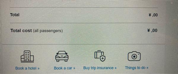 アメリカン航空のeチケット 領収書についてです。 ドル表記が文字化けしているのか表示されないのですが、解消方法をご存知の方いましたら教えて欲しいです。