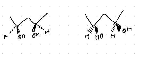 写真の2つの化合物は同一化合物ですか?