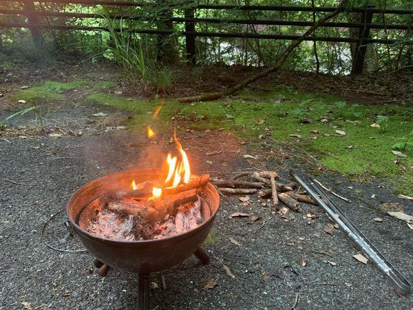 炎の煙が男の子の顔に見えるのは、私だけ?一人キャンプの時に撮りました。