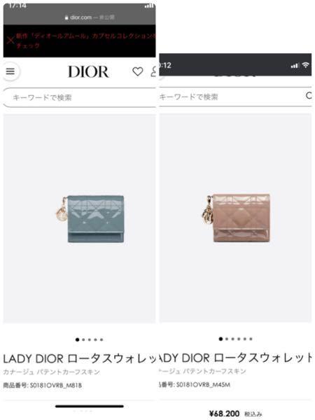 このdiorの財布、18歳の女性が持つにはどちらがいいと思いますか? 今度家族にプレゼントしてもらうのですが、この2色で迷っています。どちらが似合うでしょうか?
