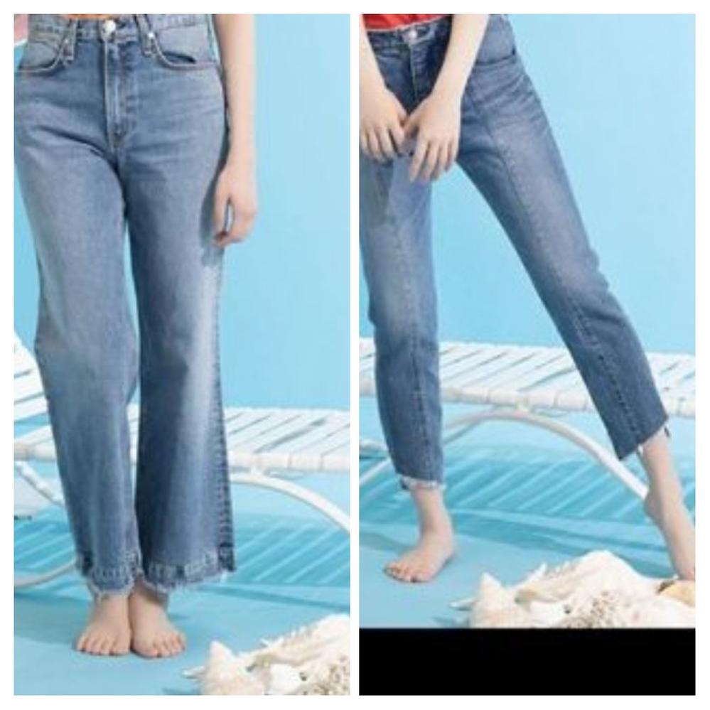 坂道デニムクイズPart3 画像のデニムを穿いてる 現役または元坂道メンバーは 左右それぞれ、誰と誰でしょう?