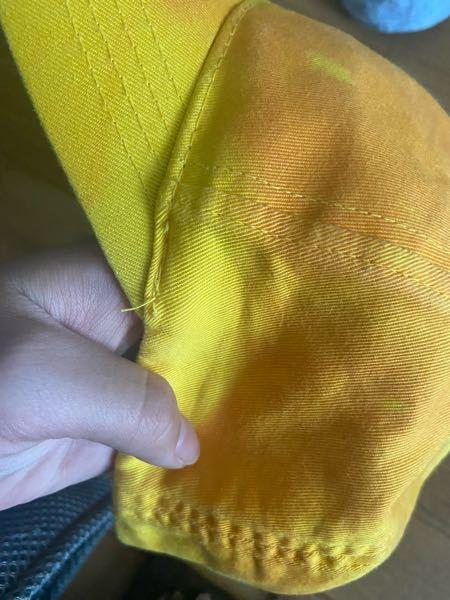 バイトの帽子を漂白しようと思いオキシウォッシュでつけていた所、置き時間がまずかったのかそもそも素材的にダメだったのか、元々黄色だったのがタイダイ柄のように所々オレンジになってしまいました、解決策とかな にかないでしょうか?