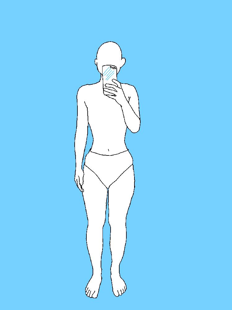 骨格診断お願いします 足が太く、胸の厚みがないです よろしくお願いします