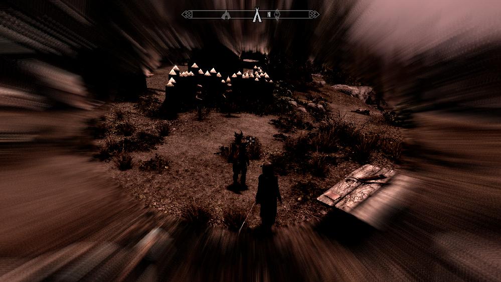 PC版 The Elder Scrolls V: Skyrim SPECIAL EDITION 「ボエシアの呼び声」クエストの会話エフェクトが、クエスト完了後も元に戻らず画像の状態のままです。 ...