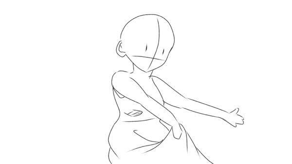 イラストについてです。今こんな感じのポーズでイラストを描こうと思っているんですが、スカートなどのシワの付け方、重力、体の形などこんな感じでいいのか気になったのですが、まだ未熟な者でよく分からなくて……そ れで質問しました。アドバイスなどお願いします。