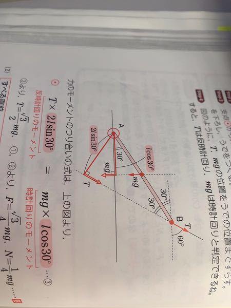 T×lsin30°にするんですか。 三角比の使い方がよく分かっていません。