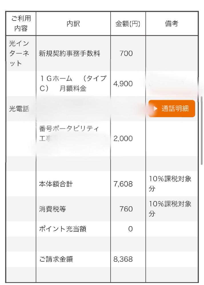 コミュファ光 請求内訳について 7月に開通工事を行いました。 請求内訳にある 本体額合計っていうのは何でしょうか?? あと番号ポータビリティ工事費というのは 毎月払うものなのですか?それとも今月の支払いのみでいいんでしょうか??