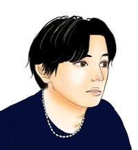 私の絵です。吉沢亮さんに見えますか?見えませんか?