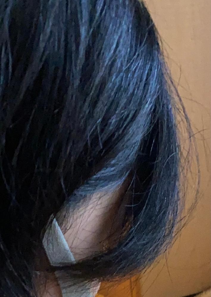 髪の毛が写真のように広がってしまいみっともないのですが、何が原因なのでしょうか? 髪質は硬く太い癖毛で、たまに酷くうねりガタガタの髪や緩くうねった髪が見受けられます。 ブリーチはインナーカラー...