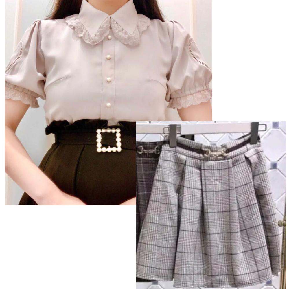 こちらのブラウスとスカートの組み合わせは可愛いと思いますか?? 量産型