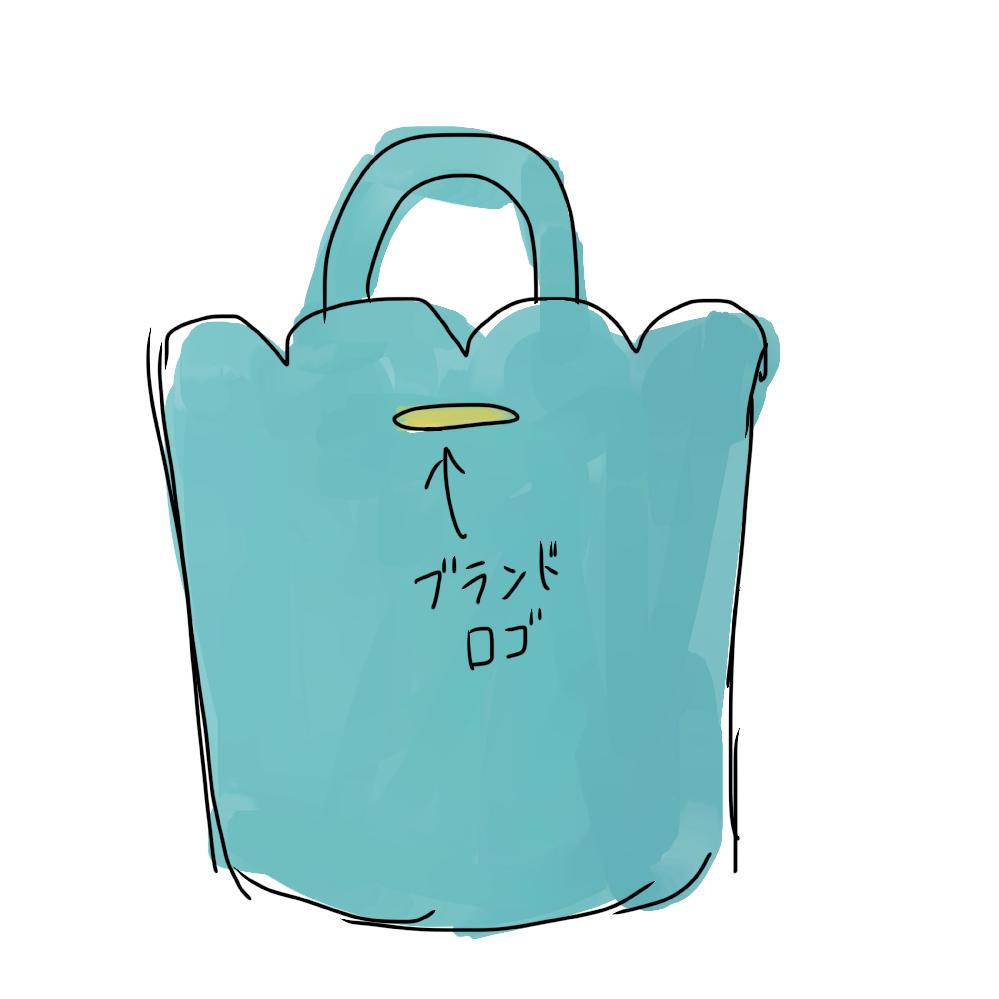 画像のようなバッグのブランドがどうしても思い出せません。素材が皮もしくは合皮で、裏地がクリームっぽい色でした。