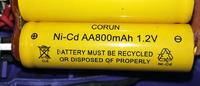 コードレスドライバーのバッテリーがヘタってきて 新しい電池に交換しようと思います 古い電池はニッカド電池 800mAh 1.2Vですが これを同サイズのニッカド電池 1000mAh 1.2Vに変えたり ニッケル水素電池 2700mAh 1.2Vに変えても 充電し使うことができるのでしょうか?