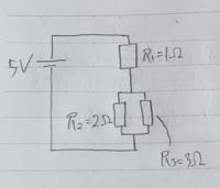 この回路のR2とR3にかかる電圧の求め方を教えてください。