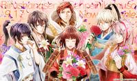 すみませんこのキャラクターたちがもっている花の種類をすべてわかる方教えて頂けませんか??