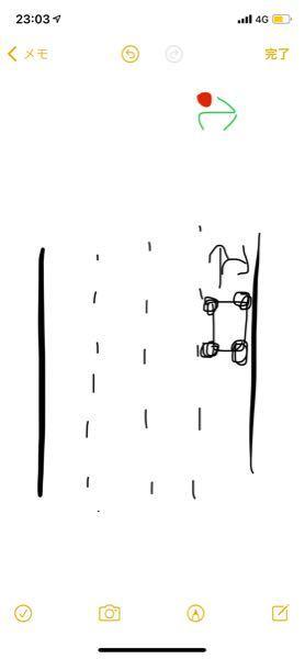 赤信号の右矢印の状態で真っ直ぐと右どちらも行ける車線のとき、その場に停止した場合違反になりますか?